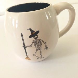 Rae Dunn Witch Skeleton Halloween Coffee Cup NEW